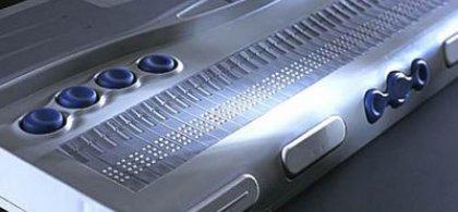 Foto de una linea braille
