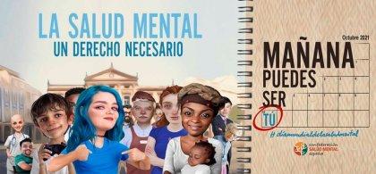 creatividad en la que pone el claim 'la salud mental un derecho necesario'