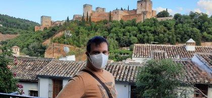 Imagen de Salvador en el Mirador de los Carvajales (Granada)