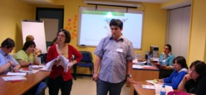 Foto de Esther y Antonio, formadores en derechos