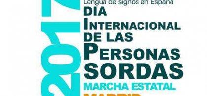 Imagen del cartel de CNSE del dia de las personas sordas