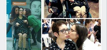 Fotomontaje alusivo a la campaña 'Besos por la parálisis cerebral'