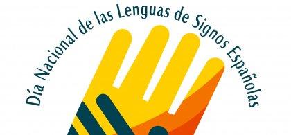 Imagen del Día Nacional de las Lenguas de Signos Españolas con dos manos superpuestas