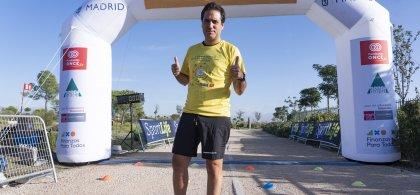 Foto de Félix durante la carrera