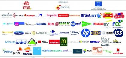 Foto con los logos de las empresas que pertenecen al foro inserta