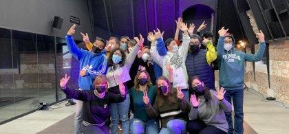 Foto de grupo de los estudiantes