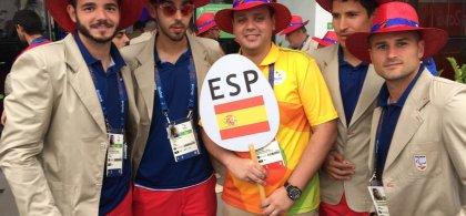Foto de parte de la selección nacional de fútbol para ciegos en Río