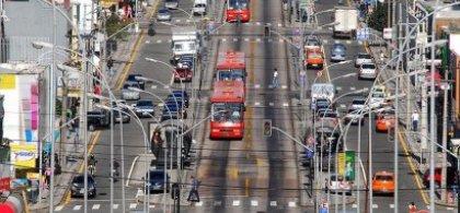 Foto del tráfico de una ciudad