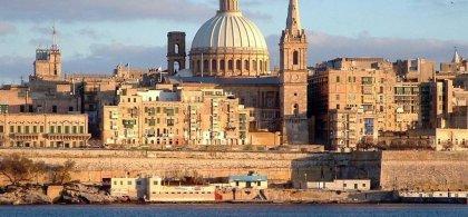 Vista panorámica de La Baleta, capital de Malta
