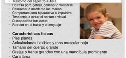 Imagen de Diego con información sobre el X frágil