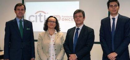 Foto de una de las acciones conjuntas de Fundación ONCE y Citi