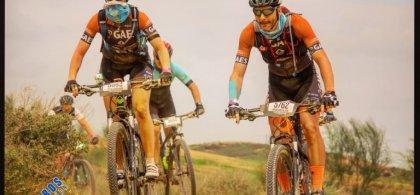 Agna y Miguel durante la carrera