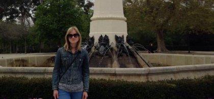 Imagen de Ines en el parque de El Retiro