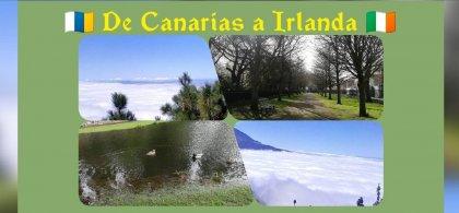 Mosaico de imágenes de Irlanda y Canarias